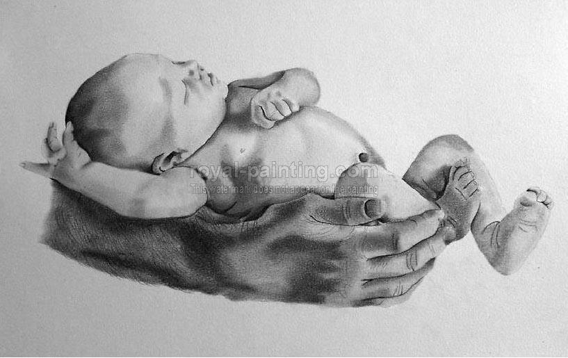 charcoal drawing painting