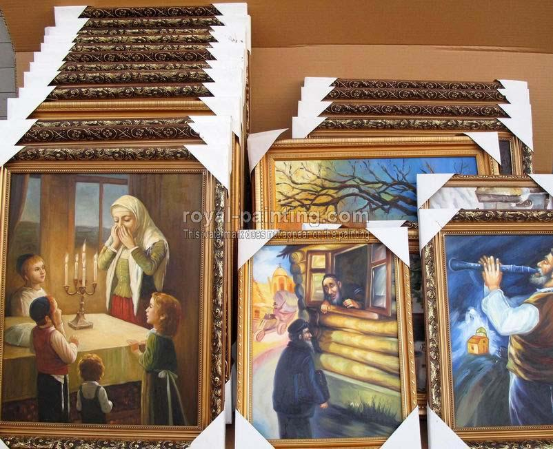 hand Painted Jewish oil paintings