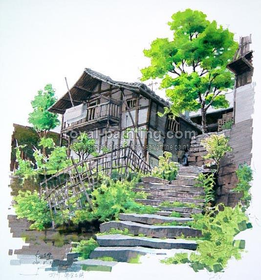 Water Color Landscape Painting