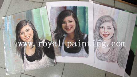 Water Color and Charcoal Drawing Paintings