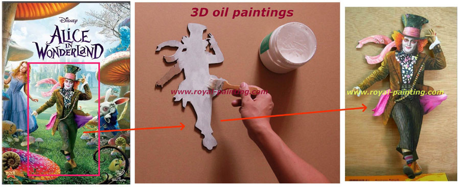 3D wood board painting