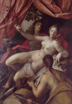 Hans Von Aachen : Allegory of peace art and abundance