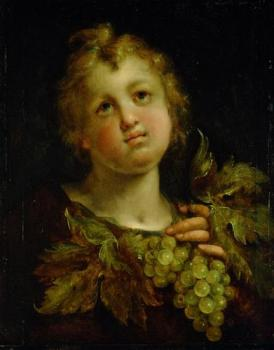 Hans Von Aachen : Boy with grapes