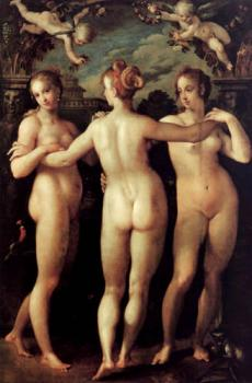 Hans Von Aachen : The three graces