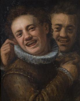 Hans Von Aachen : Two laughing men