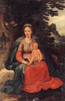 Hans Von Aachen : Virgin and child