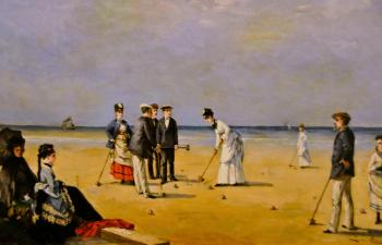 Louise Abbema : A game of croquet