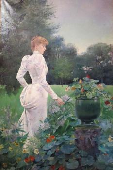 Louise Abbema : In the flowers