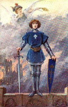 Louise Abbema : Jeanne d'Arc, incendie de reims
