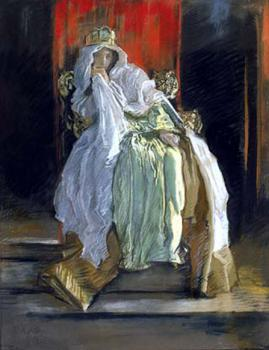 Edwin Austin Abbey : The Queen in Hamlet