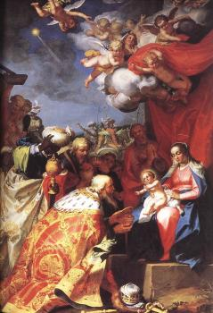 Abraham Bloemaert : Adoration OF The Magi