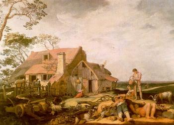 Abraham Bloemaert : Landscape With Peasants Resting