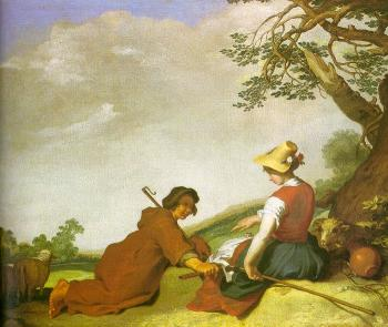 Abraham Bloemaert : Shepherd And Shepherdess