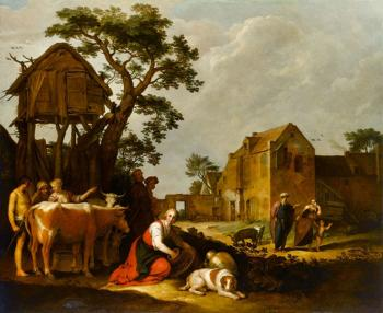 Abraham Bloemaert : The Expulsion of Hagar and Ishmael