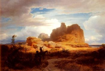 Andreas Achenbach : Don Quixote and Sancho Panza