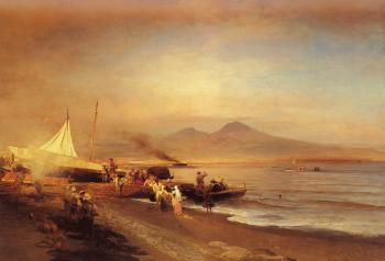 Oswald Achenbach : The Bay of Naples