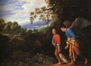 Copy after the lost large Tobias and the Angel