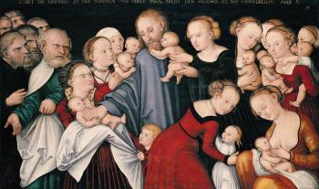 christ blessing the children lucas the younger cranach