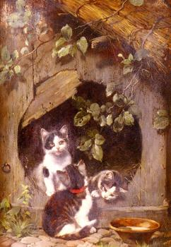 Julius Adam : Playful Kittens