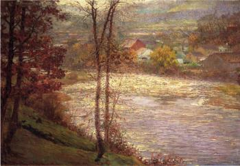 John Ottis Adams : Morning on the Whitewater, Brookille, Indiana