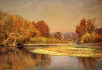 John Ottis Adams : Sycamores on the Whitewater