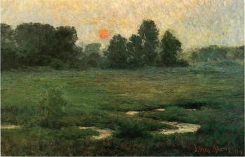 John Ottis Adams : An August Sunset, Prarie Dell