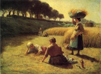 John Ottis Adams : Nooning (Gleaners at Rest)