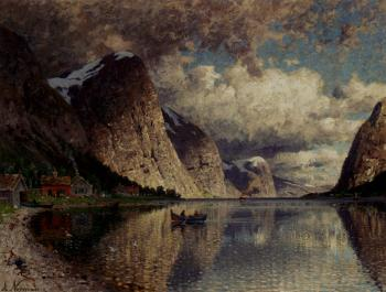 Adelsteen Normann : A Clody Day On A Fjord