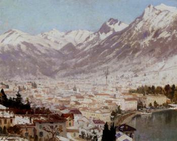 Adelsteen Normann : A View Of Como