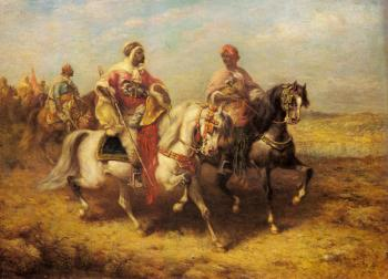Adolf Schreyer : Arab Chieftain And His Entourage
