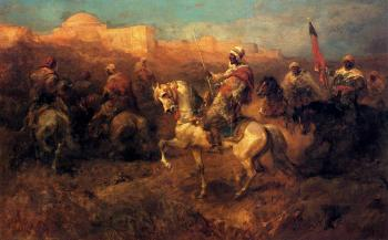 Adolf Schreyer : Arab Horsemen On The March