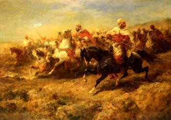 Adolf Schreyer : Arabian Horsemen