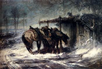 Adolf Schreyer : Wallachian Blizzard
