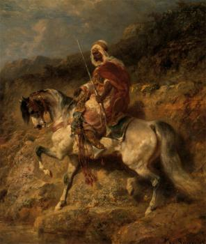 Adolf Schreyer : An Arab Horseman On The March