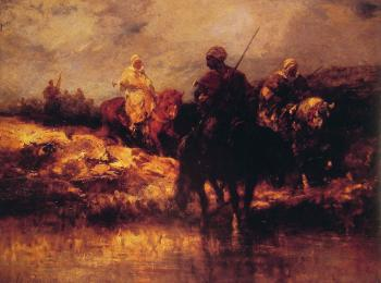Adolf Schreyer : arabs on horseback II