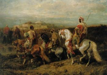 Adolf Schreyer : Bedouins Approaching the City
