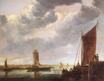 Aelbert Cuyp : The Ferry Boat