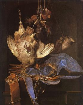 Willem Van Aelst : Still Life with Hunting Equipment