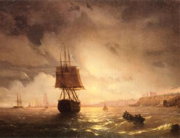 Ivan Constantinovich Aivazovsky : The Harbor At Odessa On The Black Sea