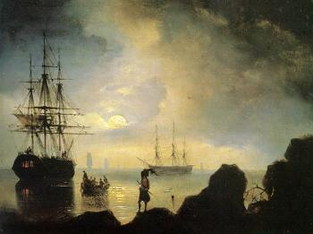 Ivan Constantinovich Aivazovsky : Fishermen on the Shore