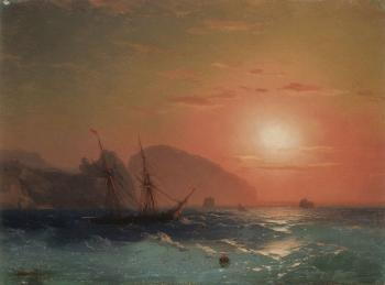 Ivan Constantinovich Aivazovsky : View Of The Ayu Dag, Crimea