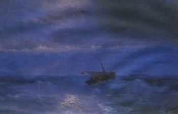 Ivan Constantinovich Aivazovsky : Caucasus from the Sea