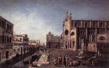 Francesco Albotto : View of Campo Santi Giovanni e Paolo