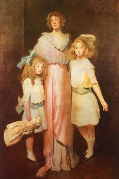 John White Alexander : Mrs. Daniels with Two Children