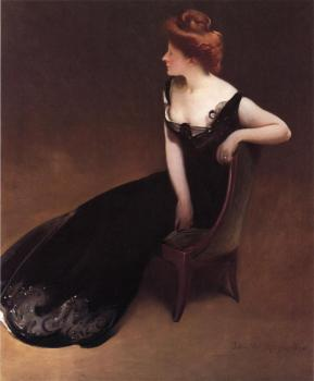 John White Alexander : Portrait of Mrs V (Mrs Herman Duryea)