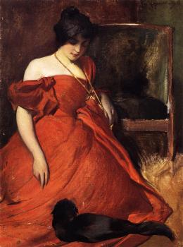 John White Alexander : Black and Red