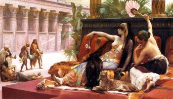 Alexandre Cabanel : Cleopatra Testing Poisons on Condemned Prisoners