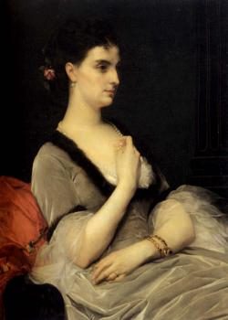 Alexandre Cabanel : Portrait of Countess E A Vorontsova Dashkova