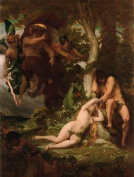 Alexandre Cabanel : The Expulsion of Adam and Eve from the Garden of Paradise
