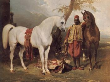 Alfred Dedreux : The Mounts of Abd El Kader